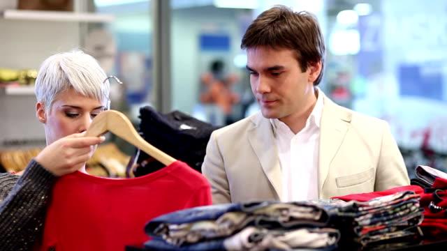 Couple shopping video