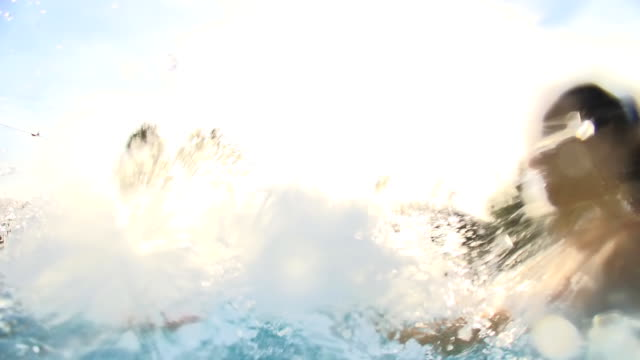 HD SLOW MOTION: Couple Splashing Each Other video