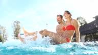 HD SUPER SLOW-MO: Couple Splashing Water video