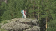 Couple Standing on Boulder video