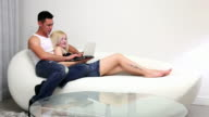 Couple surf Internet video