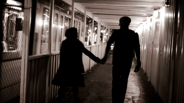 Couple taking a walk in the city. video