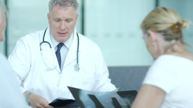 Couple talking to consultant doctor video