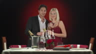 HD: Couple Toasting With Glass Of Champagne video