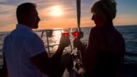 MS Couple Toasting With Wine On The Bow video