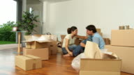 HD DOLLY: Couple Toating In New Home video