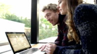 HD: Couple Using Laptop At Home video