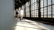 Couple waiting at station video