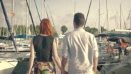Couple Walking at the Marina video
