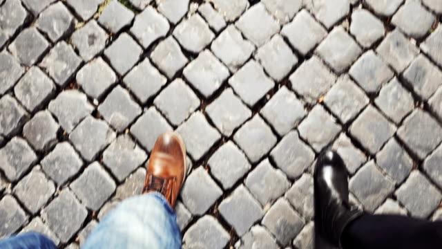Couple walking in Rome video