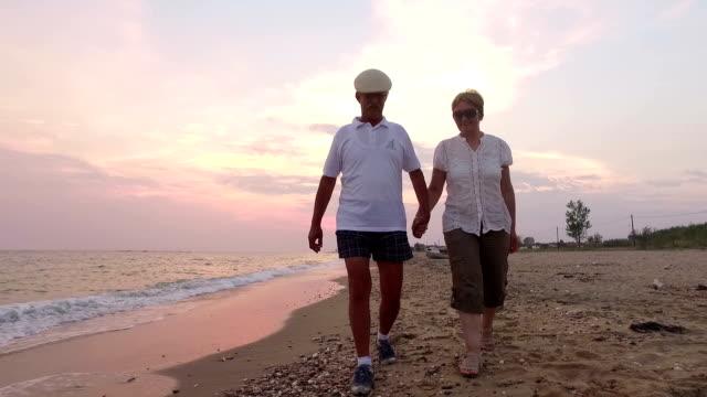 Couple walking. Slow motion. video