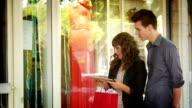 Couple window shop video