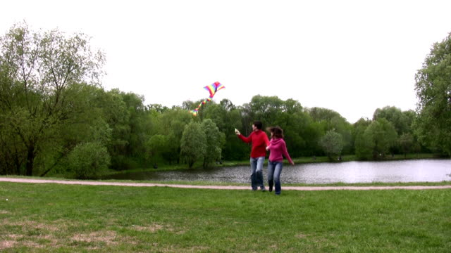 Couple with kite video