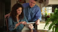 Couple with Tablet Computer video