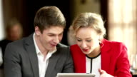 Couple With Tablet video