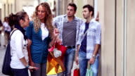 Couples in Happy Shopping Activity video
