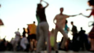 Couples Latin dancing in the street video