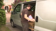 Courier / Delivery man in Van (Logistics Home delivery) video