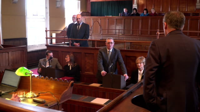 4K: Court hearing - Barrister / Lawyer questions Witness video