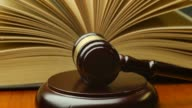 Court legal law system mallet of judge legal code of judgment video