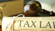 Court legal tax law system mallet of judge legal code of judgment video