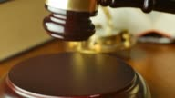 Court of law justice magistrate judge gavel and hammer video
