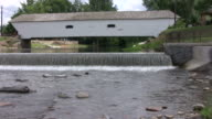 Covered Bridge with water fall video