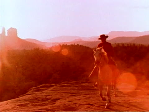 Cowboy at Monument Valley video