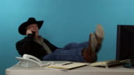 Cowboy cell phone video