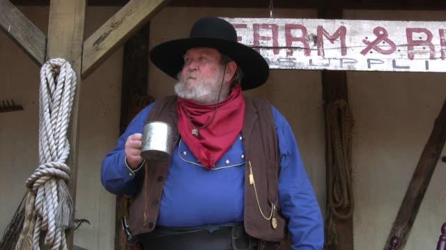 Cowboy drinking video