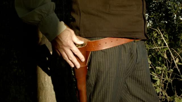 cowboy pulls his pistol video