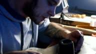 craftsman handmade leather crafting video