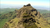 Crags Around Cathedral Peak  - Aerial View - KwaZulu-Natal,  uThukela District Municipality,  Okhahlamba,  South Africa video