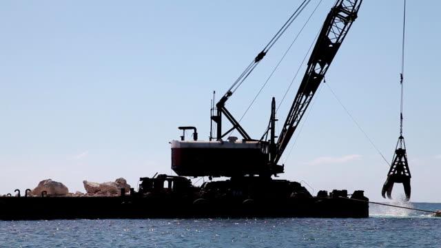Crane at work video
