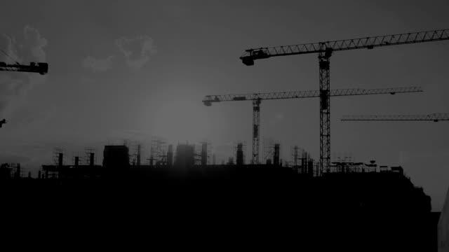 Crane construction. video