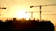 Crane construction. video