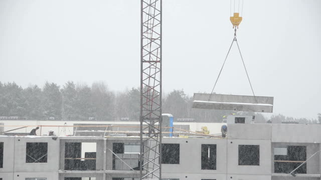 Crane lift block house parts and builders in blizzard video