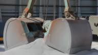 Crane loading gravel video