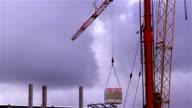 A crane loading some cargo video