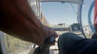Crane Opearator's hand video