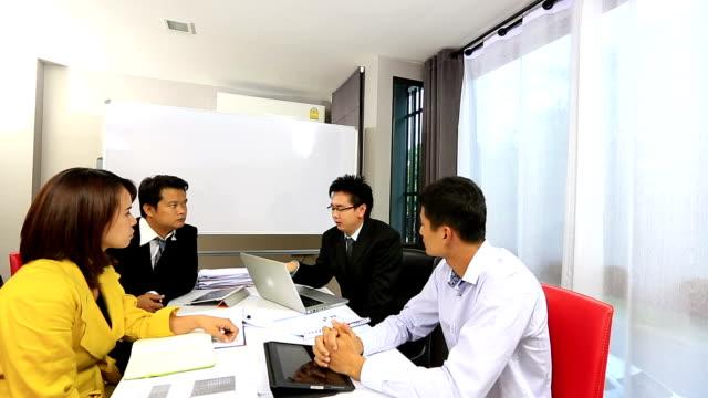 Crane shot: Business Meeting video