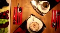 HD: Crane Shot of Cofee Cups video