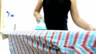crane shot: Shirt ironing video