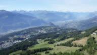 Crans-Montana aerial shots video