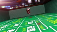 Craps Table Slow Motion Casino Gambling video