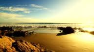 Crashing waves before sunset 2 video