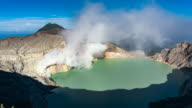 Crater ijen volcano, East Java, Indonesia video