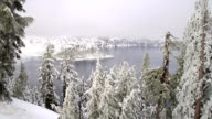 Crater Lake National Park in Winter video