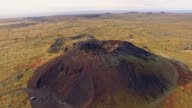AERIAL Crater of a volcano video
