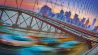 Creative Brooklyn bridge and downtown New York video